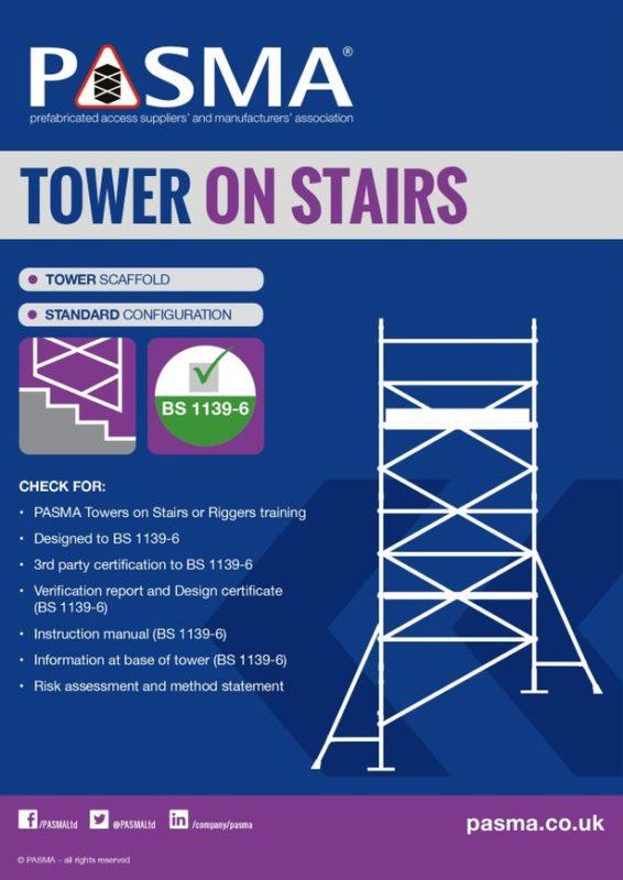 Ridgeway Scaffold Hire Tower on Stairs